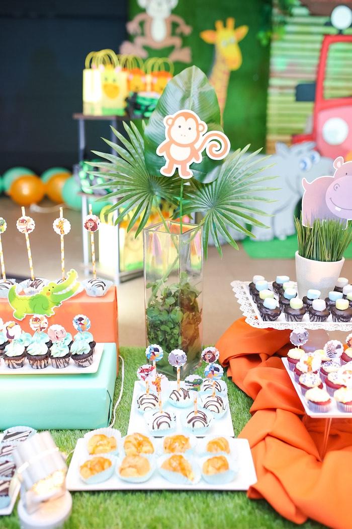Safari Themed Dessert Table from a Safari Animal Birthday Party on Kara's Party Ideas | KarasPartyIdeas.com (19)