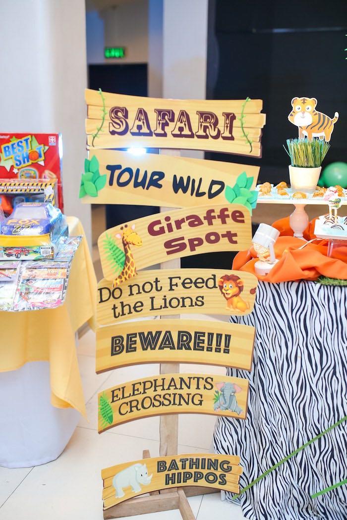 Safari Directional Sign from a Safari Animal Birthday Party on Kara's Party Ideas | KarasPartyIdeas.com (17)