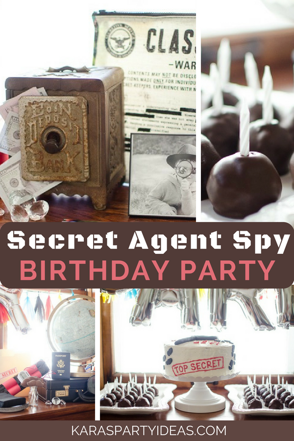 photograph relating to Secret Agent Badge Printable called Karas Celebration Plans Solution Consultant Spy Birthday Get together Karas