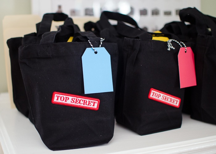 Secret Agent Favor Bags from a Secret Agent Spy Birthday Party on Kara's Party Ideas | KarasPartyIdeas.com (25)