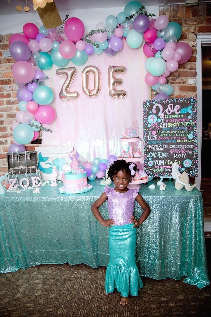Shimmering Mermaid Birthday Party on Kara's Party Ideas | KarasPartyIdeas.com (4)