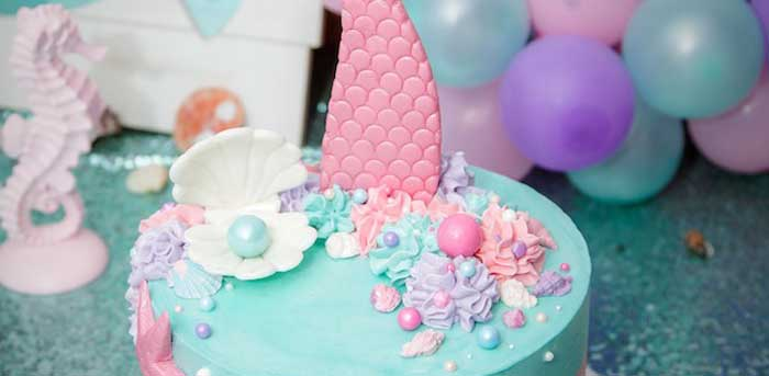 Shimmering Mermaid Birthday Party on Kara's Party Ideas   KarasPartyIdeas.com (3)