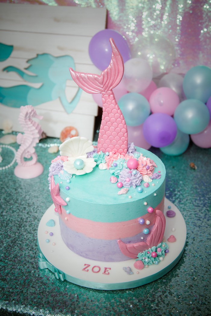 Kara S Party Ideas Shimmering Mermaid Birthday Party