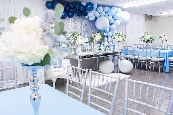 Karas Party Ideas Silver Blue Elephant Baby Shower Karas Party