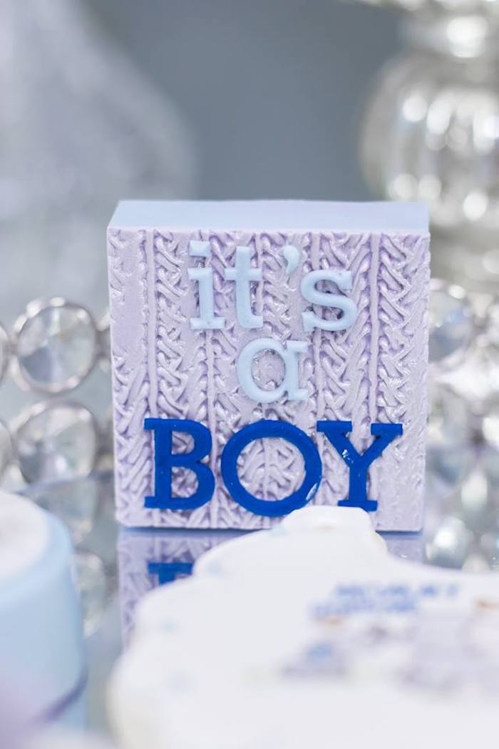 Kara S Party Ideas Silver Amp Blue Elephant Baby Shower
