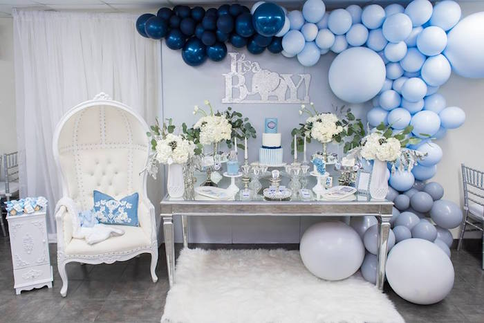 Silver & Blue Elephant Baby Shower on Kara's Party Ideas | KarasPartyIdeas.com (11)