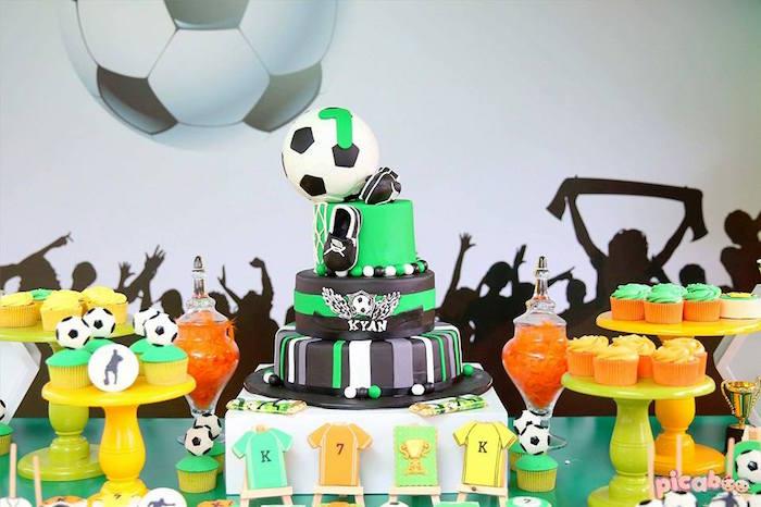 Soccer Themed Dessert Table from a Soccer Birthday Party on Kara's Party Ideas | KarasPartyIdeas.com (8)