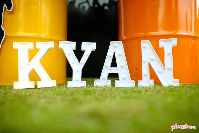 Marquee Letters from a Soccer Birthday Party on Kara's Party Ideas | KarasPartyIdeas.com (7)