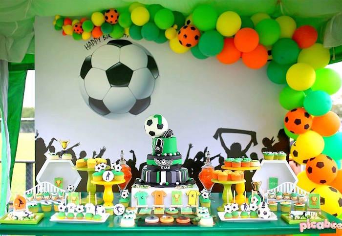 Soccer Birthday Party on Kara's Party Ideas | KarasPartyIdeas.com (5)