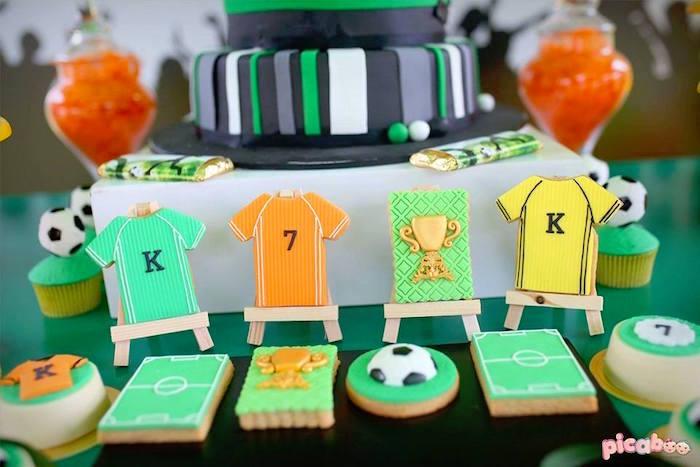 Soccer Cookies from a Soccer Birthday Party on Kara's Party Ideas | KarasPartyIdeas.com (16)