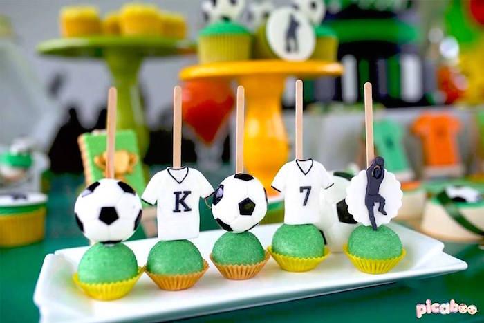 Soccer Cake Pops from a Soccer Birthday Party on Kara's Party Ideas | KarasPartyIdeas.com (13)