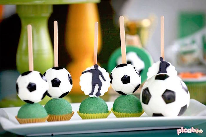 Soccer Cake Pops from a Soccer Birthday Party on Kara's Party Ideas | KarasPartyIdeas.com (12)