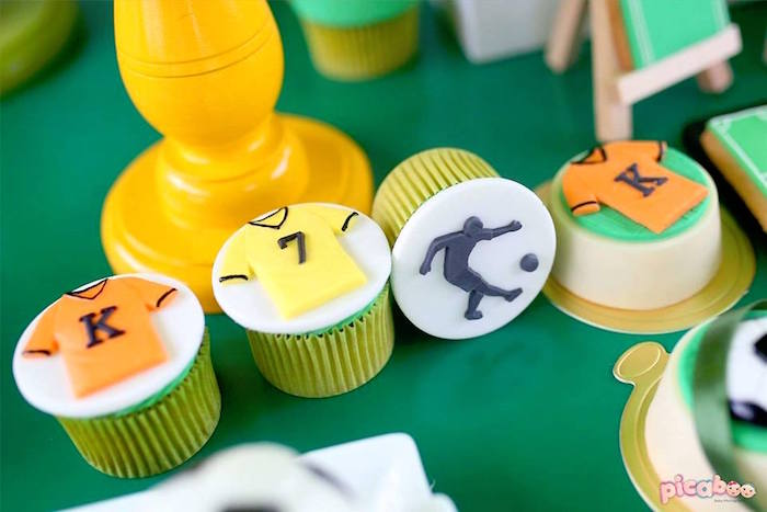 Soccer Cupcakes from a Soccer Birthday Party on Kara's Party Ideas | KarasPartyIdeas.com (11)