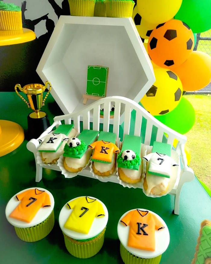 Soccer Cupcakes & Eclairs from a Soccer Birthday Party on Kara's Party Ideas | KarasPartyIdeas.com (9)