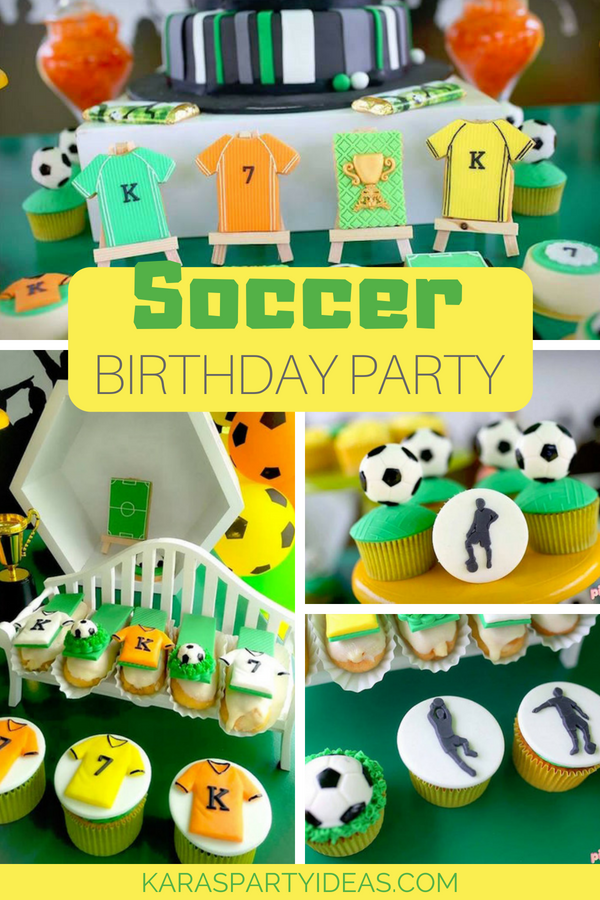 Soccer Futbol Birthday Party via KarasPartyIdeas - KarasPartyIdeas.com