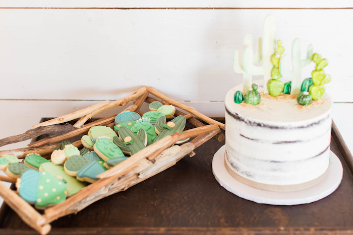Cactus Cake & Cookies from a Southwestern Cactus Baby Shower on Kara's Party Ideas | KarasPartyIdeas.com (24)