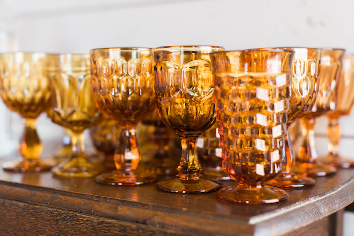 Copper-colored Glass Bubble Goblets + Cups from a Southwestern Cactus Baby Shower on Kara's Party Ideas | KarasPartyIdeas.com (19)