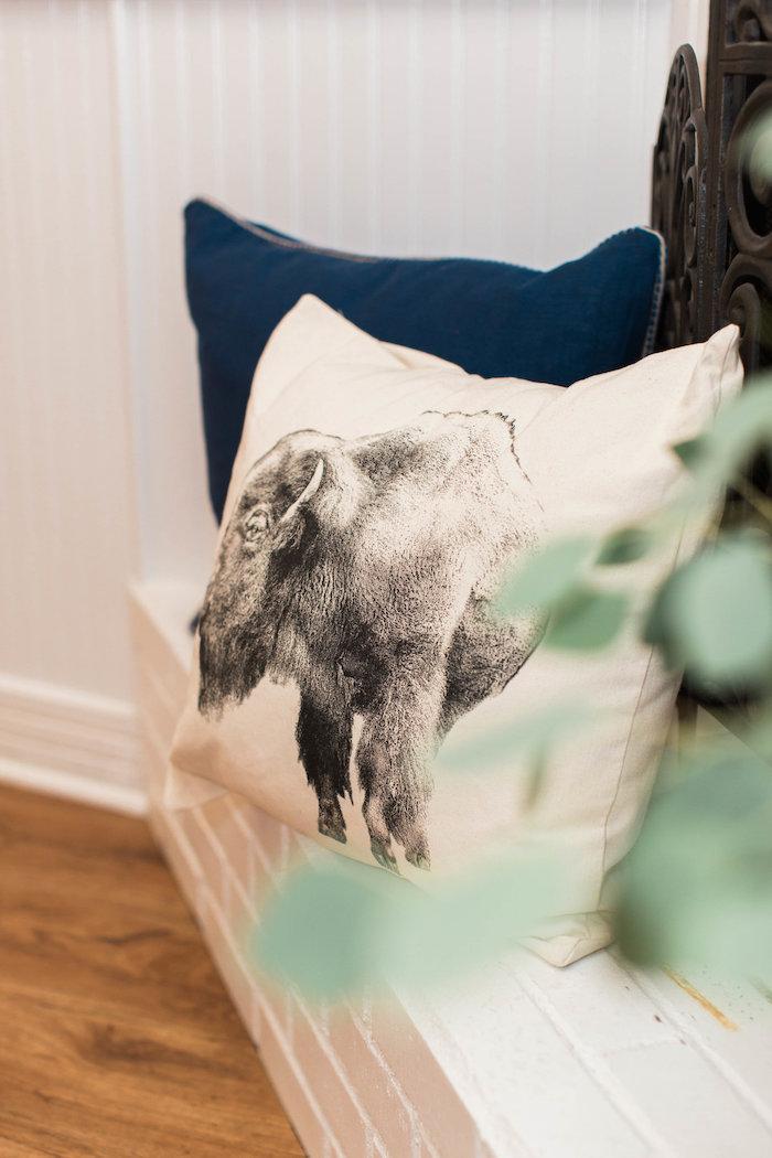 Elephant Pillow from a Southwestern Cactus Baby Shower on Kara's Party Ideas | KarasPartyIdeas.com (10)