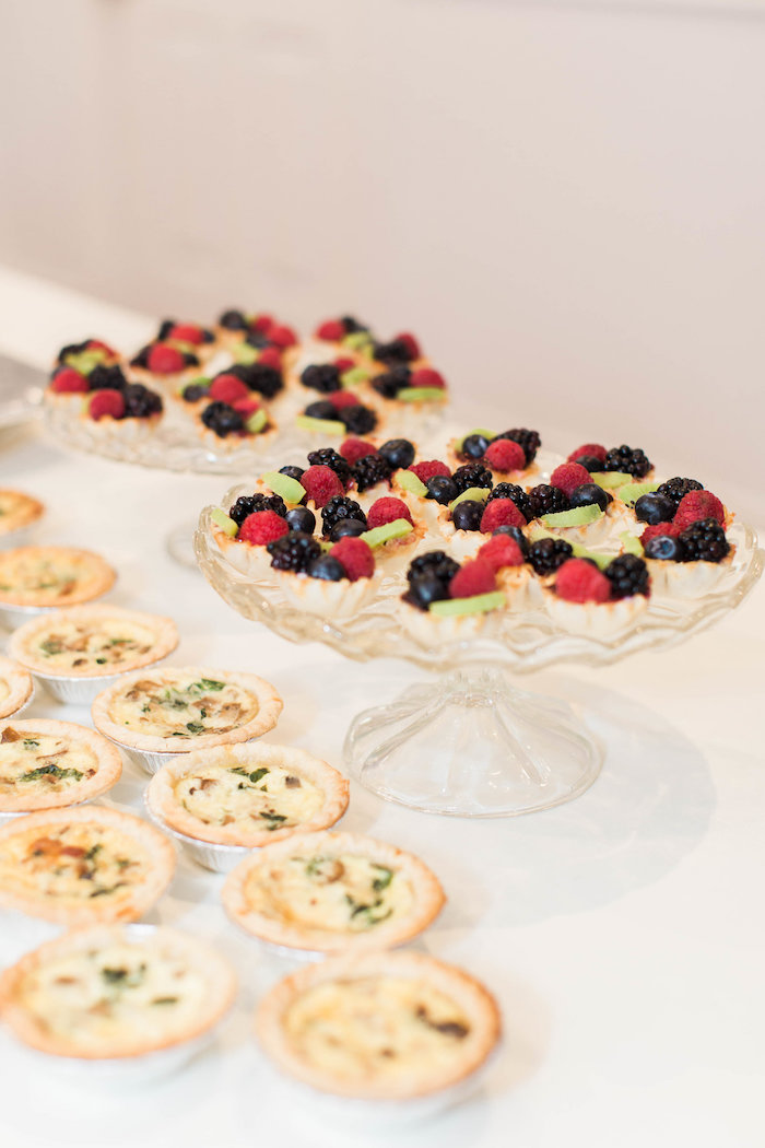 Fruit Tarts & Quiche from a Southwestern Cactus Baby Shower on Kara's Party Ideas | KarasPartyIdeas.com (9)