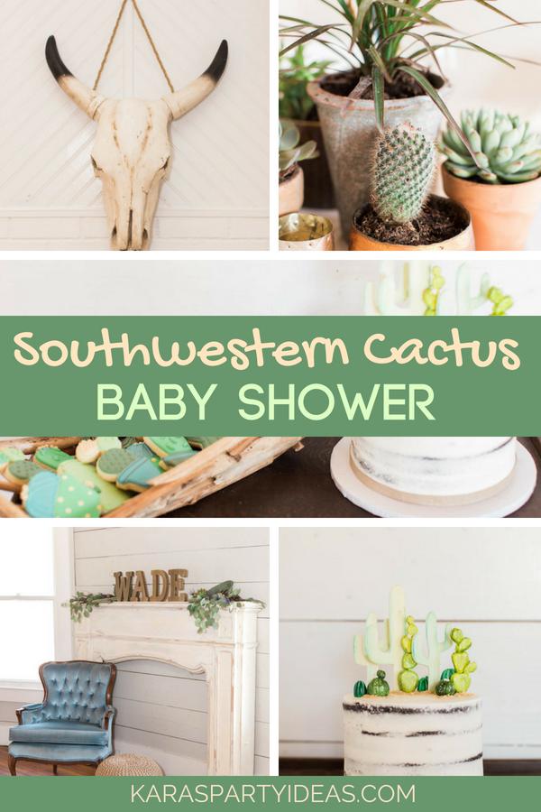 Southwestern Cactus Baby Shower via KarasPartyIdeas - KarasPartyIdeas.com (1)