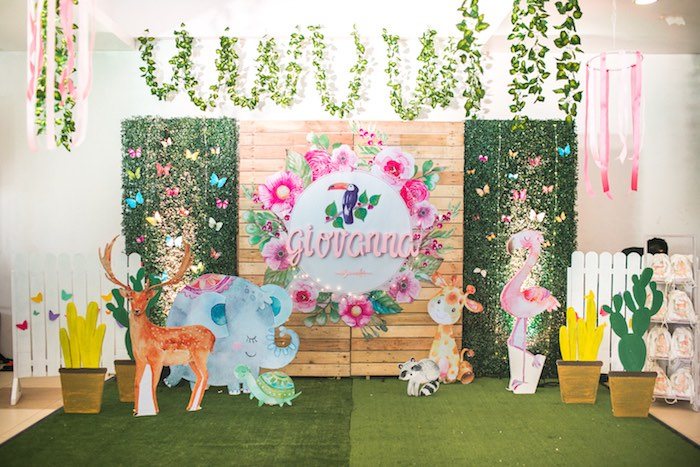 Springtime Forest + Jungle Animal Party on Kara's Party Ideas | KarasPartyIdeas.com (32)