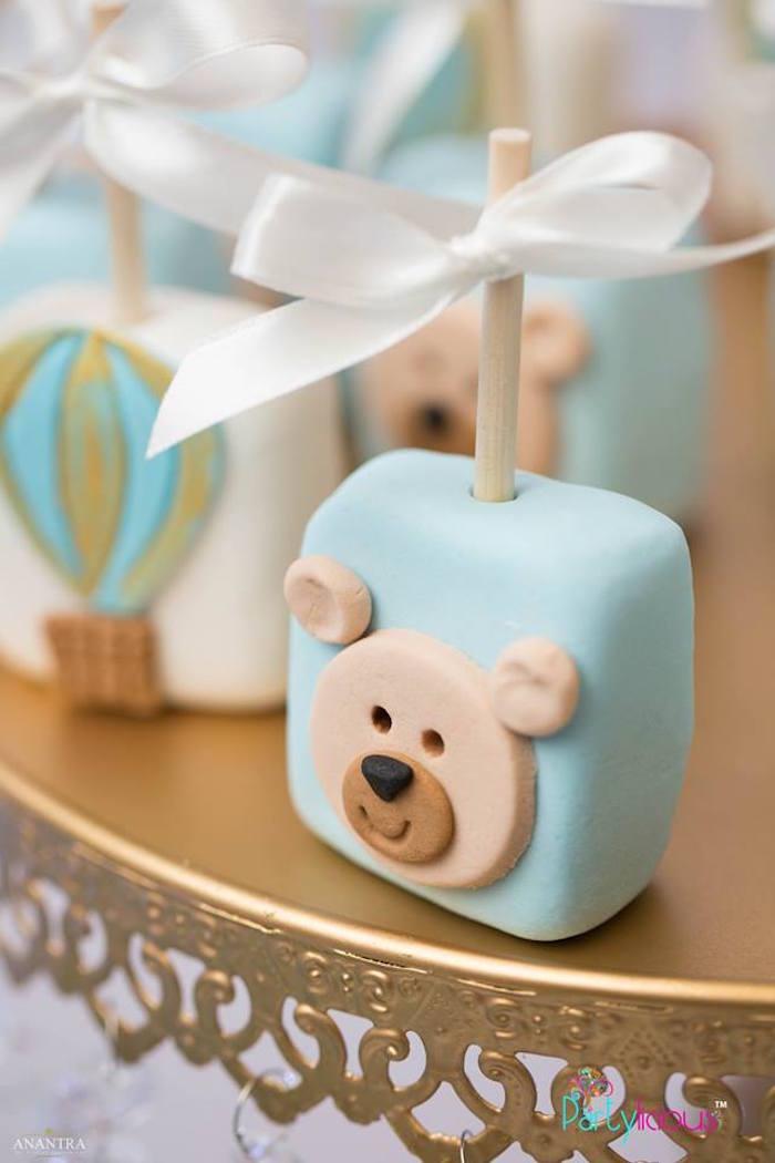 Teddy Bear Pop from a Teddy Bear + Hot Air Balloon Birthday Party on Kara's Party Ideas   KarasPartyIdeas.com (9)