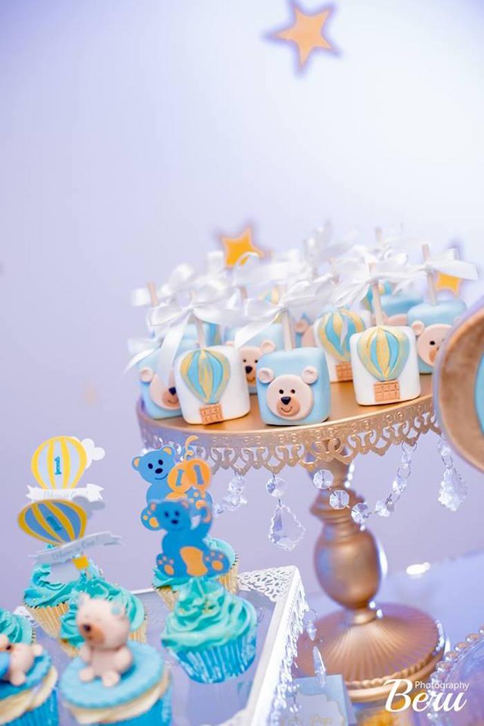 Teddy Pops from a Teddy Bear + Hot Air Balloon Birthday Party on Kara's Party Ideas   KarasPartyIdeas.com (5)