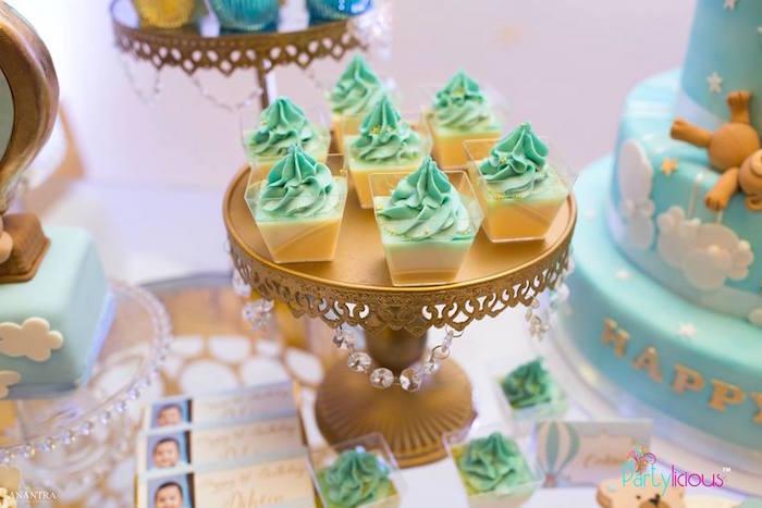 Dessert Cups from a Teddy Bear + Hot Air Balloon Birthday Party on Kara's Party Ideas   KarasPartyIdeas.com (19)