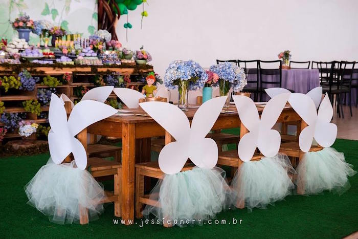 Fairy-inspired Kid Table from a Tinkerbell Birthday Party on Kara's Party Ideas | KarasPartyIdeas.com (33)