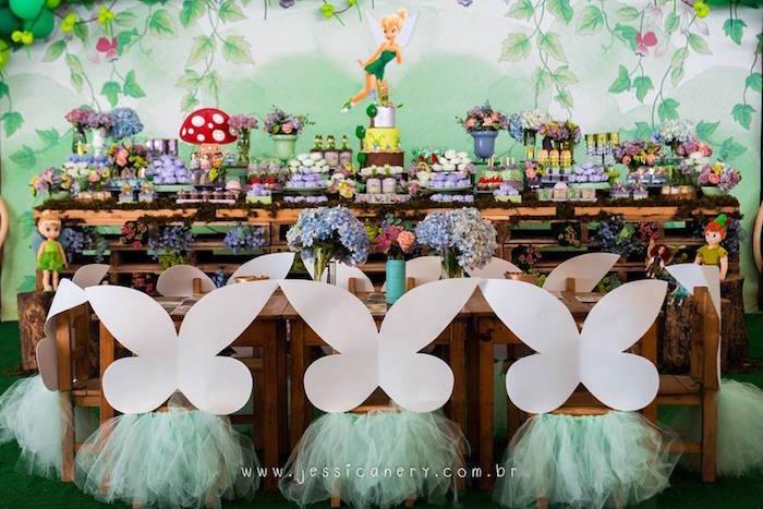 Fairy Guest Table from a Tinkerbell Birthday Party on Kara's Party Ideas | KarasPartyIdeas.com (31)