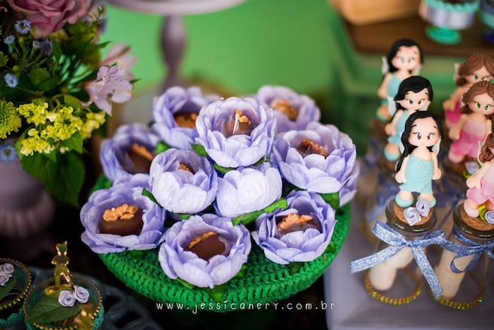 Flower Truffles from a Tinkerbell Birthday Party on Kara's Party Ideas | KarasPartyIdeas.com (29)