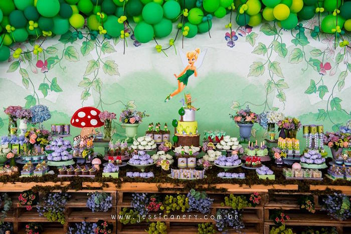 Tinkerbell Dessert Table from a Tinkerbell Birthday Party on Kara's Party Ideas | KarasPartyIdeas.com (22)