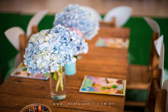 Guest Table from a Tinkerbell Birthday Party on Kara's Party Ideas | KarasPartyIdeas.com (16)