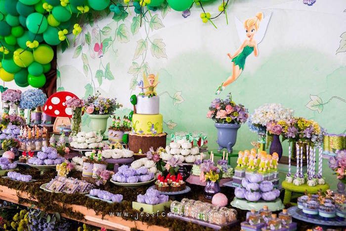 Tinkerbell Sweet Table from a Tinkerbell Birthday Party on Kara's Party Ideas | KarasPartyIdeas.com (14)