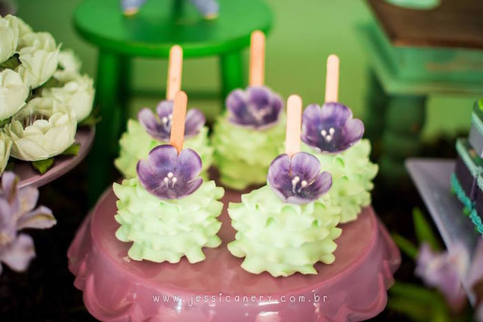 Tinkerbell Tutu Cake Pops from a Tinkerbell Birthday Party on Kara's Party Ideas | KarasPartyIdeas.com (11)