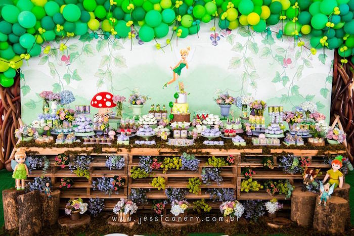 Tinkerbell Sweet Table from a Tinkerbell Birthday Party on Kara's Party Ideas | KarasPartyIdeas.com (8)