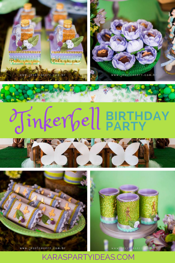 Tinkerbell Birthday Party via KarasPartyIdeas - KarasPartyIdeas.com