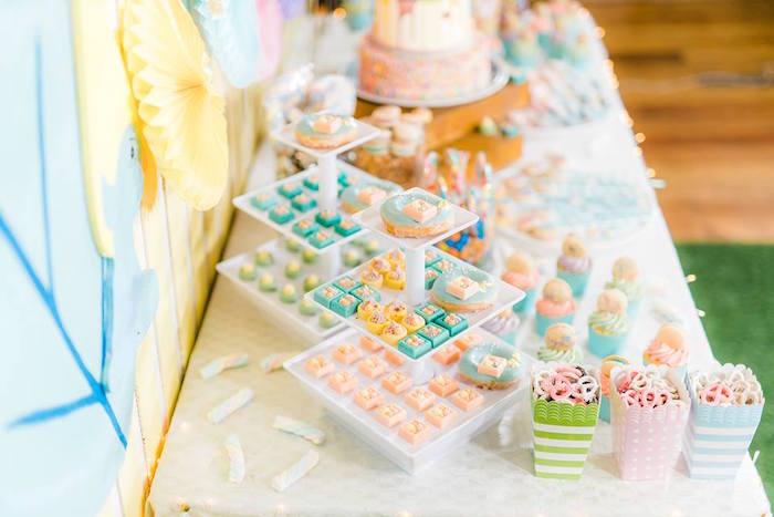 Dessert Table from a Trolls Happy Place Birthday Party on Kara's Party Ideas | KarasPartyIdeas.com (33)