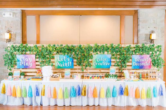 Activity Tables from a Trolls Happy Place Birthday Party on Kara's Party Ideas | KarasPartyIdeas.com (32)