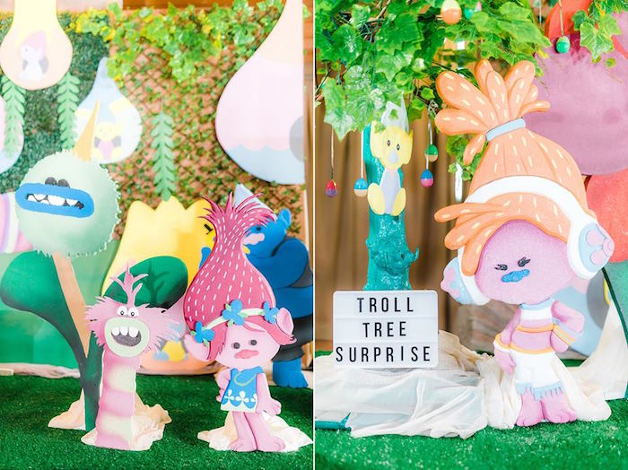 Troll Standees + Backdrops from a Trolls Happy Place Birthday Party on Kara's Party Ideas | KarasPartyIdeas.com (31)