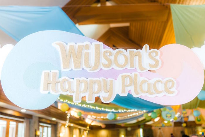 Happy Place Arch + Signage from a Trolls Happy Place Birthday Party on Kara's Party Ideas | KarasPartyIdeas.com (30)