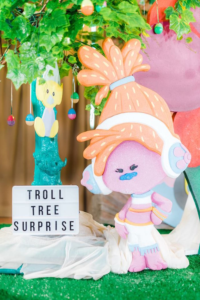 Troll Tree Surprise + Poppy Standee from a Trolls Happy Place Birthday Party on Kara's Party Ideas | KarasPartyIdeas.com (29)