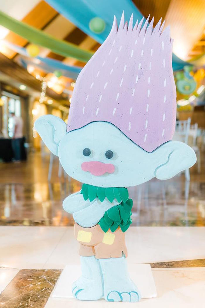 Branch Standee from a Trolls Happy Place Birthday Party on Kara's Party Ideas | KarasPartyIdeas.com (28)