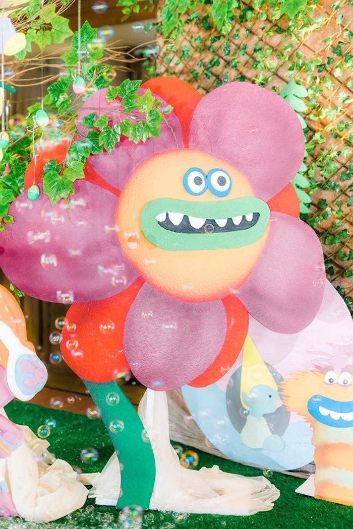 Troll Flower Standee from a Trolls Happy Place Birthday Party on Kara's Party Ideas | KarasPartyIdeas.com (24)