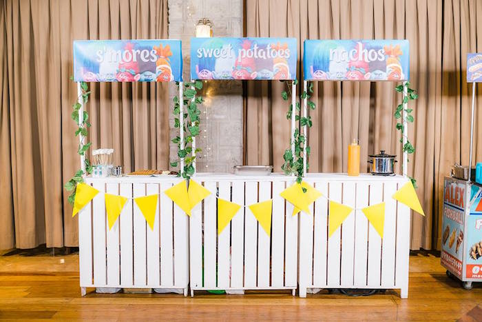 Snack + Food Stand from a Trolls Happy Place Birthday Party on Kara's Party Ideas | KarasPartyIdeas.com (18)