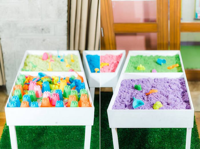 Sand Station from a Trolls Happy Place Birthday Party on Kara's Party Ideas | KarasPartyIdeas.com (16)
