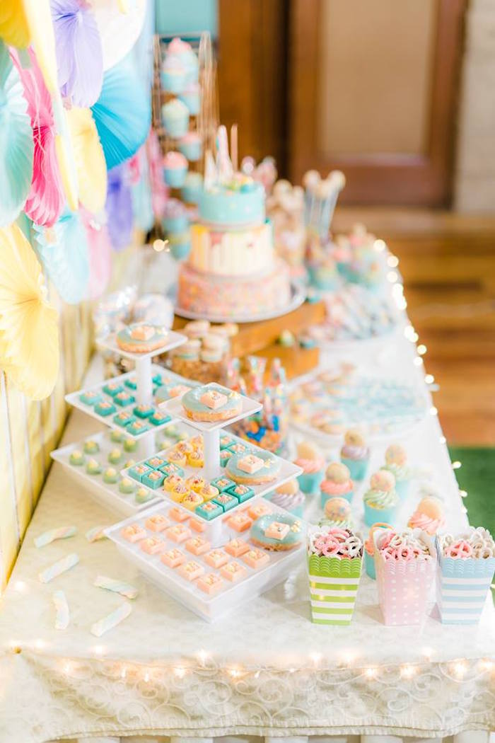 Sweet Table from a Trolls Happy Place Birthday Party on Kara's Party Ideas | KarasPartyIdeas.com (15)