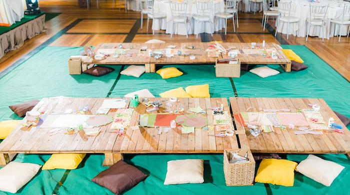 Pallet Tables from a Trolls Happy Place Birthday Party on Kara's Party Ideas | KarasPartyIdeas.com (11)