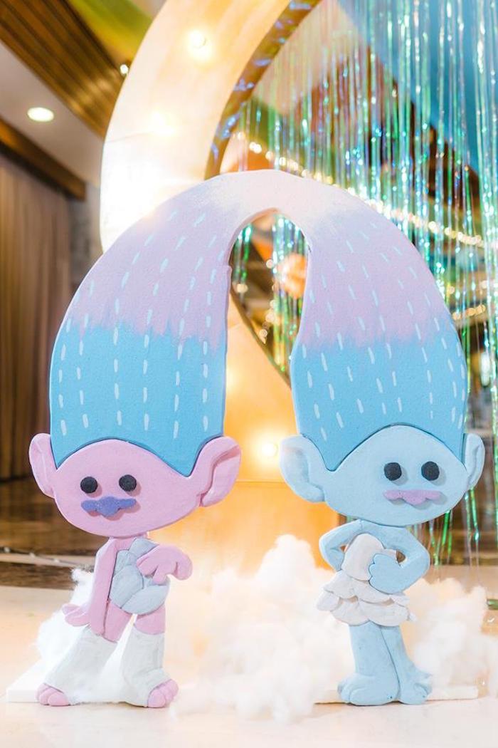 Twin Trolls from a Trolls Happy Place Birthday Party on Kara's Party Ideas | KarasPartyIdeas.com (8)