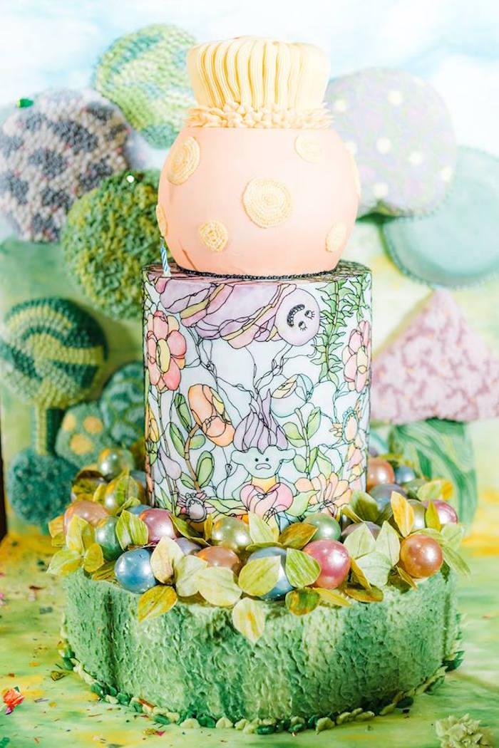 Trolls Cake from a Trolls Happy Place Birthday Party on Kara's Party Ideas | KarasPartyIdeas.com (7)
